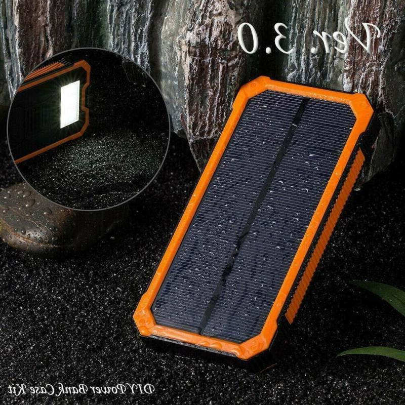 Solar Bank 50000mAh Portable Dual USB External Battery Charger For