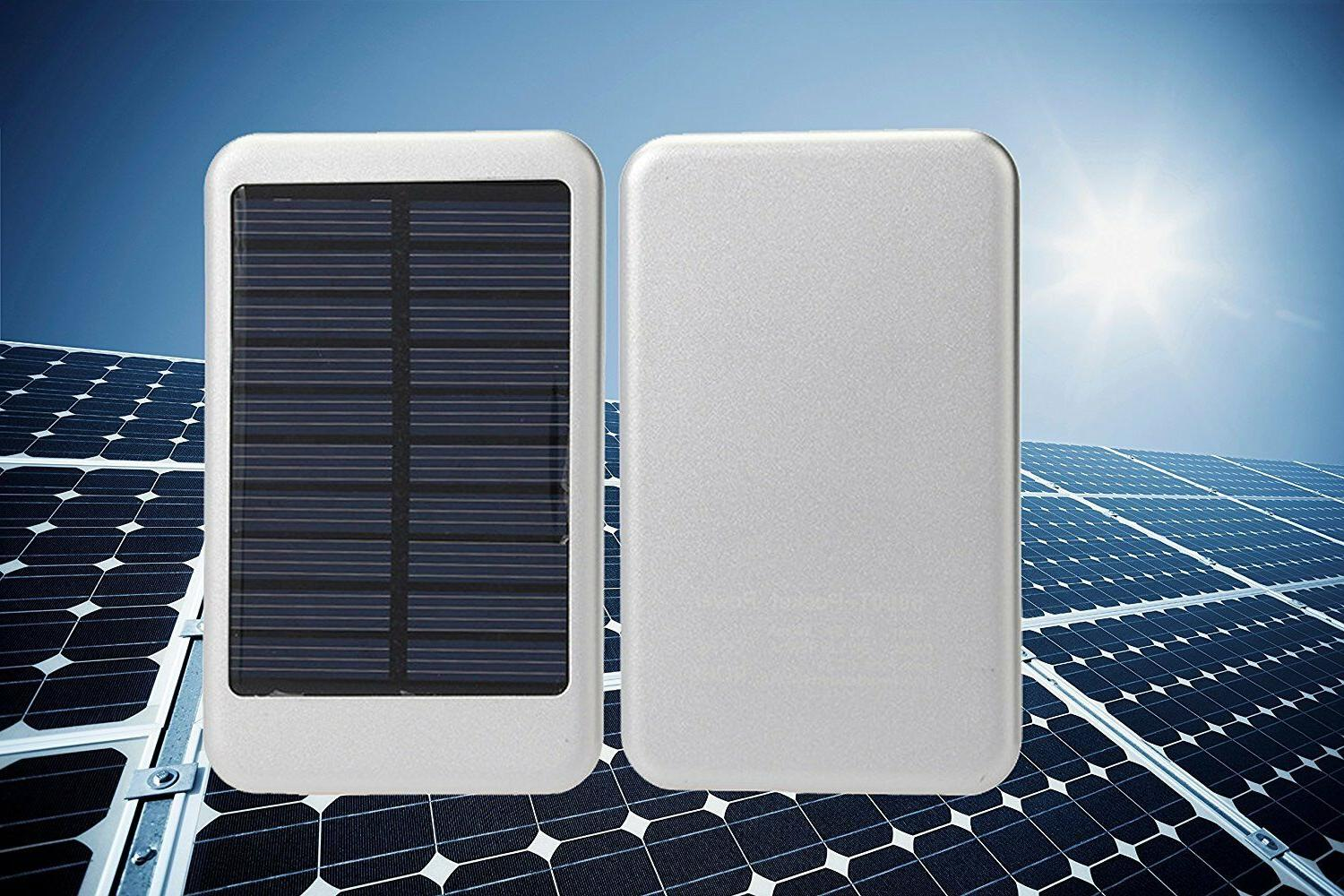 ZAZZ Solar Portable Charger External Battery Pack, NEW