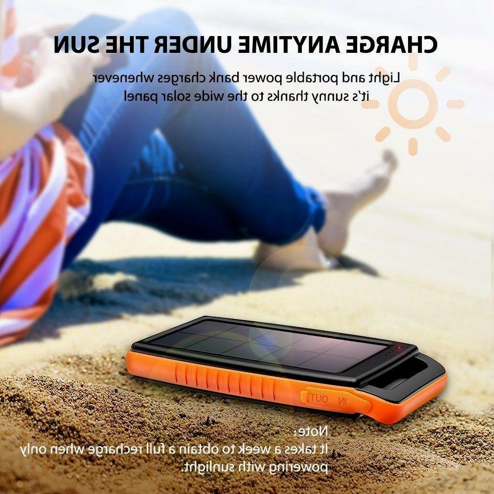 SolarCharger RAVPower 15000mAh Outdoor Portable Charger  Pow