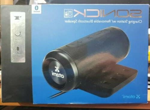 sonick plus portable charger hub with bluetooth