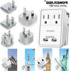 Poweradd Travel Power Adapter Dual USB UK/AU/EU/JP/US Worldw