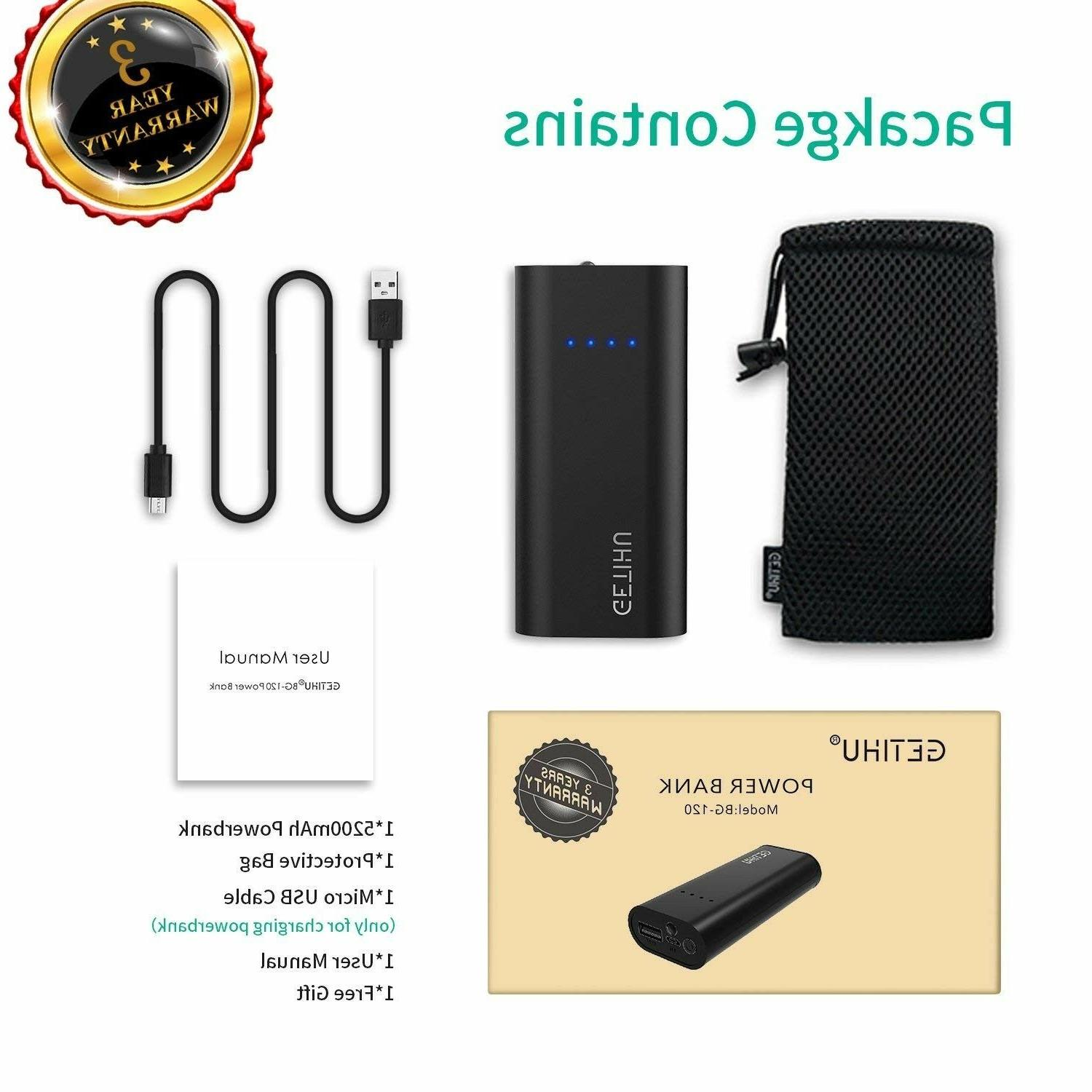 Ultra Power Bank 5200mAh portable charger 2.4A High-Speed Ch