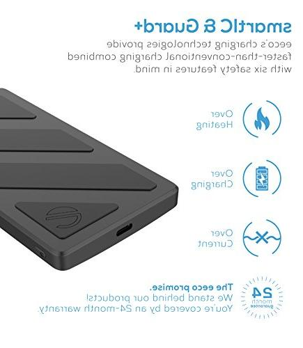 eeco Portable Charger C Power Bank Fast 5V/3A for Samsung, Nexus, Pixel, HTC