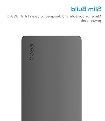 eeco Slim Portable Single-Port Input Output C Power Bank with smartIC Fast Samsung, HTC More