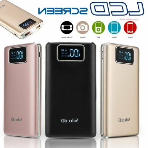 Ultrathin 100000mAh Portable Power Bank LCD External Backup