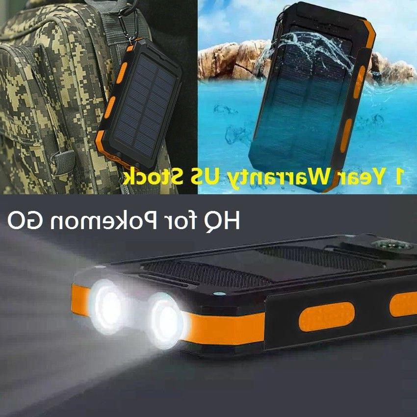 usa waterproof 500000mah 2 usb portable solar