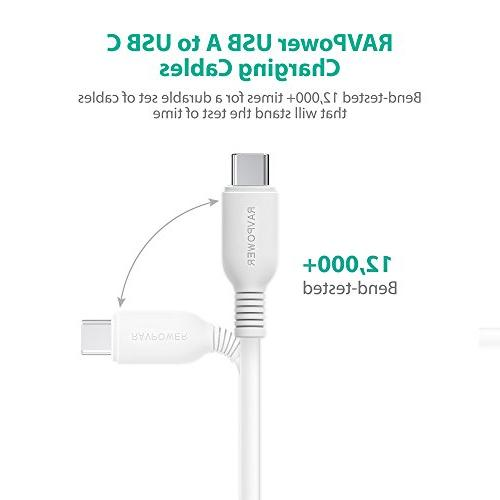 USB Type RAVPower USB USB A Charger , Fast Cord Samsung Galaxy Pixel, V30 G5, Switch, 5 3T