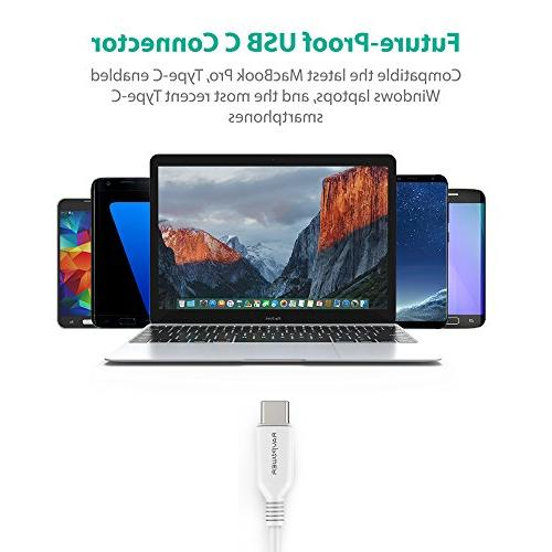 USB Type RAVPower C to USB , Fast Charging Samsung S8 Plus 8, Pixel, LG G5, Switch, OnePlus 5 and