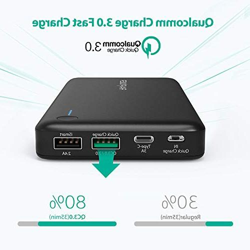 USB RAVPower 20100 Portable with QC 3.0 Quick Charge 3.0, Input Type C Battery Nintendo Switch, 12-inch MacBook, Galaxy and More