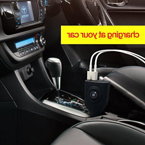 USB Charger,NDLBS 2-in-1 Portable Car and Charger Foldable Plug Home iPhone XR MAX 7 8 Pro Air Mini,Galaxy S9 Google