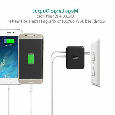 USB Quick Charger RAVPower 30W USB Wall with Quick Charge