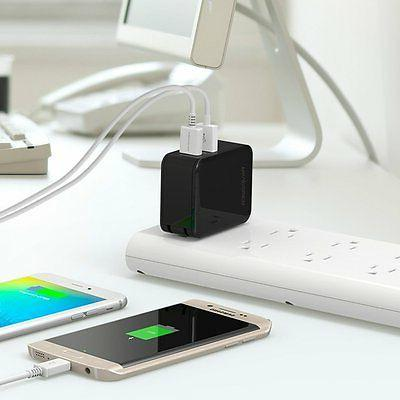 USB 30W Dual Wall Charger with Charge