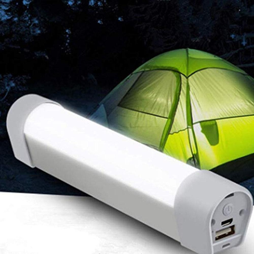 USB Rechargeable LED Emergency 6000K Camping Lamp Power with SOS Light