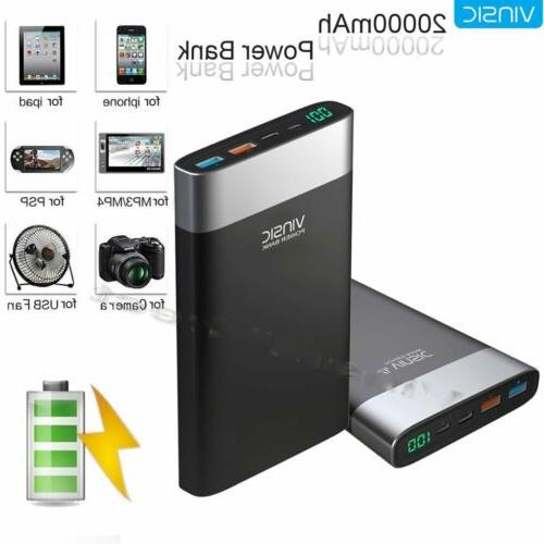 vinsic 20000mah quick charger usb c power