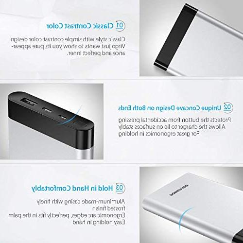 POWERADD 10000mAh Portable with Fast iPhone, Samsung, Switch, More