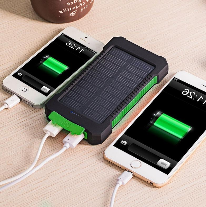 POWERNEWS 2000000mAh Portable Battery Charger Solar Power Bank