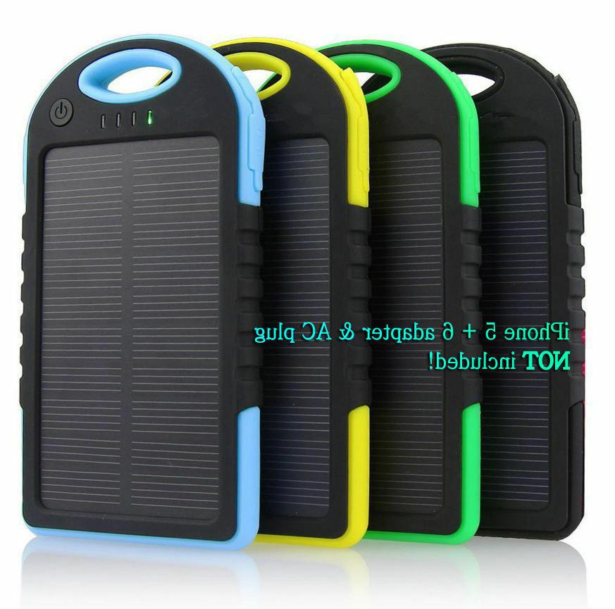 waterproof solar charger portable usb battery power