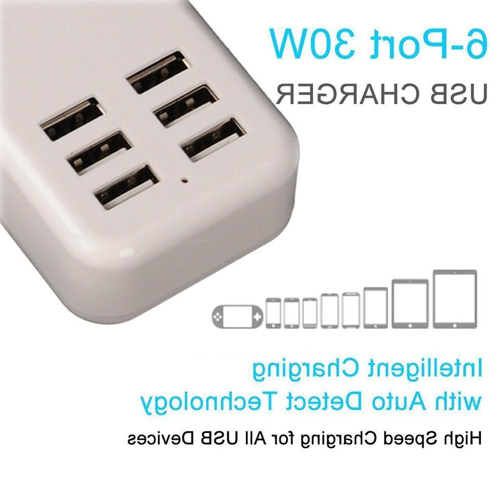 White Travel Plug Home Charger