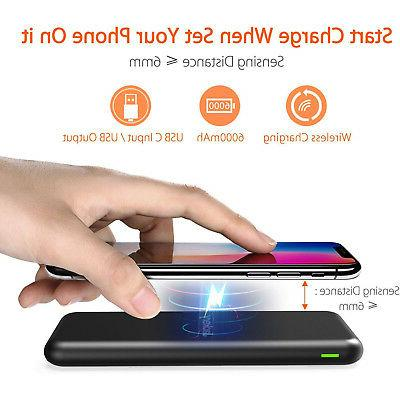 wireless portable charger airrocket 6000mah power bank