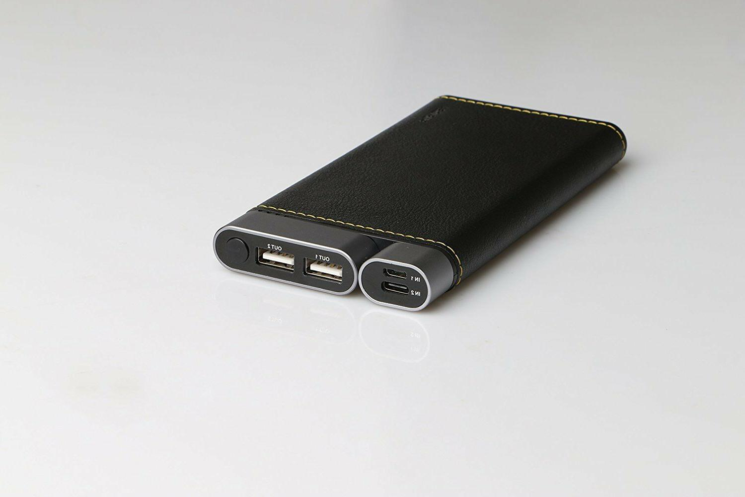 Puridea 10000 Leather Dual Charger External Black