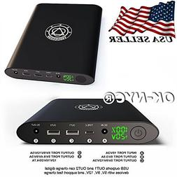 TSSUCCESS Laptop Power Bank 50000mAh Portable Charger w/ DC