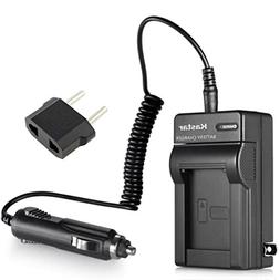 Kastar  Mini Battery Charger Kit with Car and EU Adapter Rep