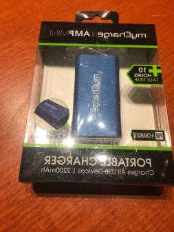 My Charge Amp Mini Portable Charger Blue