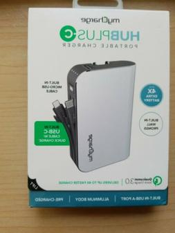 myCharge HubPlus-C Portable Charger 6700mAh Power Bank, USB-