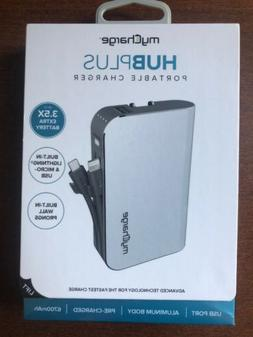 NEW! myCharge HubPlus Charger 6700mAh Battery Built-In Light
