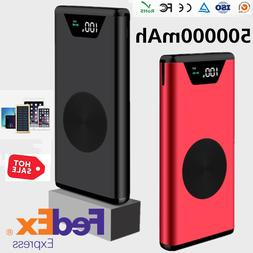 New Mobile Power 500000mAh 2 USB Fast Charging Portable Exte