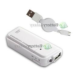 NEW Portable Charger+USB Cable for Phone Samsung Galaxy S5 S