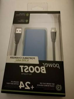 NEW mophie - Power Boost 5,200 mAh Portable Charger - Blue 1
