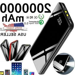Portable 2000000mAh LCD Power Bank External 2 USB Battery Ch