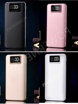 Portable 500000mAh LCD Power Bank External 2 USB Battery Cha