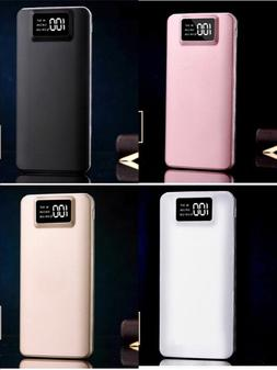 Portable 50000mAh LCD Power Bank External 2 USB Battery Char