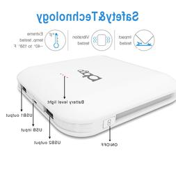 Portable 6000mAh LED Power Bank External 2 USB Battery Charg