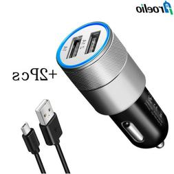 Portable Car Charger Charging Adapter Type-C Cable For Samsu