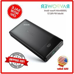 RAVPower Portable Charger 20000mAh PD 3.0 Power Bank QC 3.0