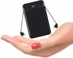 Portable Charger Built in Two Cables Mini Power Bank Outdoor