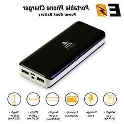 Portable Charger 20000mAh External Battery Pack Power Bank f
