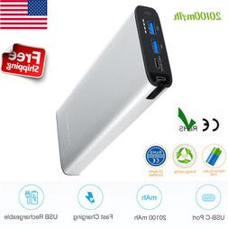 Portable Charger Power Bank 20100mAh Fast Charging Type-C Du
