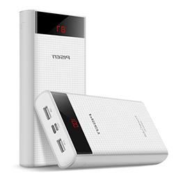 PISEN 20000mAh Portable Charger - Dual USB Output Power Bank