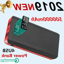 Portable Huge Capacity Battery Charger 500000mAh 4USB Spare