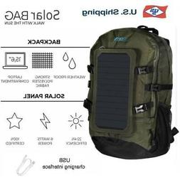 Portable Solar Charger Backpack - 7W Solar Panel Charger Hik