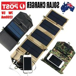 Portable Solar Charger For iPhone Phone 7W Solar Charging Pa