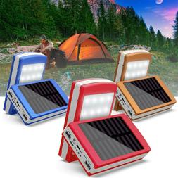 Portable Solar LED Portable Dual Power Bank 5x18650 External