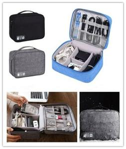 Portable Travel Electronic Accessories Cable Organizer Bag U