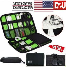 Portable Travel USB Cable Storage Bag Organizer Phone Charge