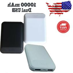 Power Bank 10000mAh Dual USB Portable Mini Polymer Battery D