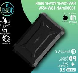 RavPower Power Bank 10050mAh Waterproof QC3.0 Quick Charge 1